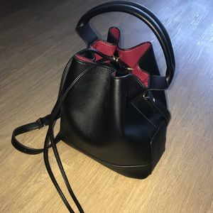 ZARA | Black Knotted Bucket Bag